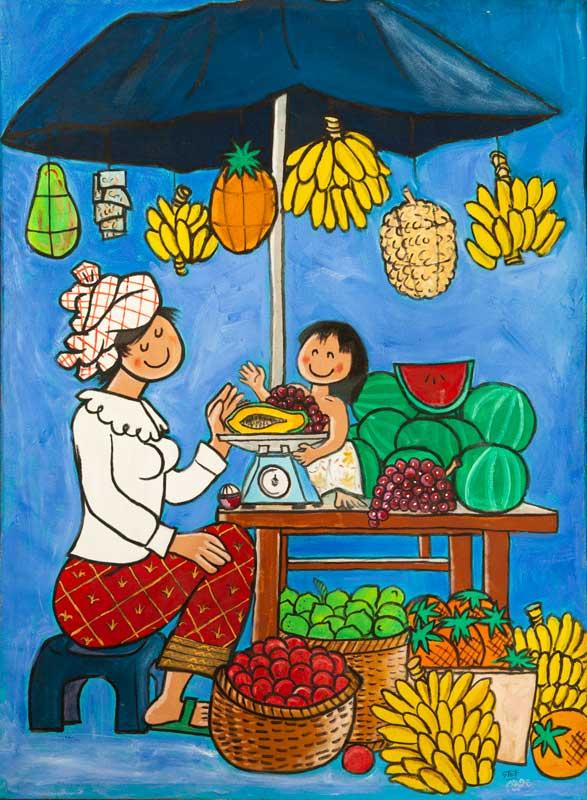 Fruit Seller Stall by Stef