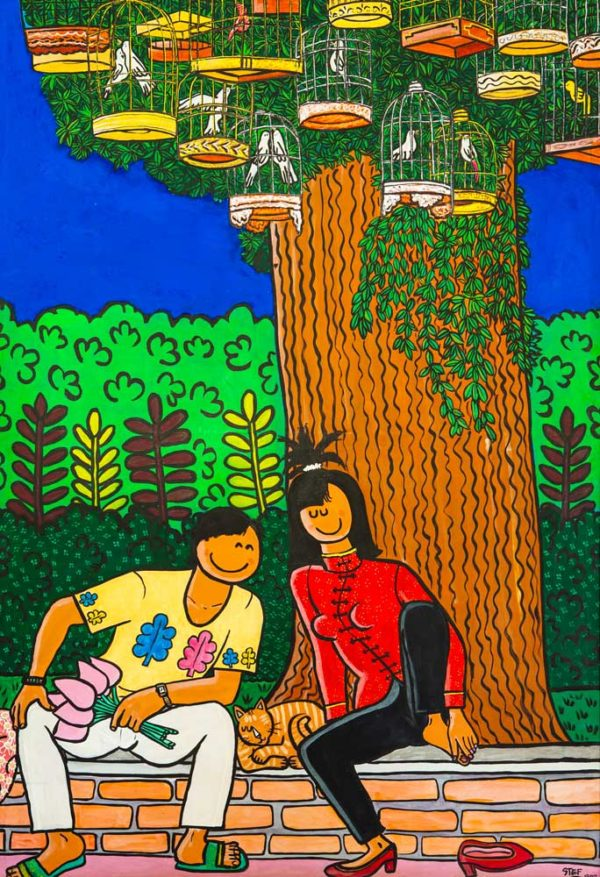 Lovers under a Tree