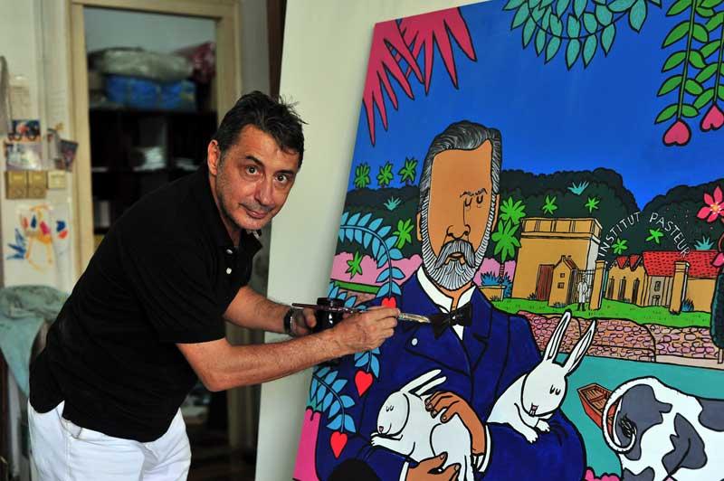 Stéphane painting