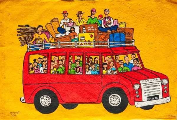 The Red Bus by Stef