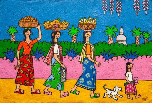 Three Walking Fruit Sellers